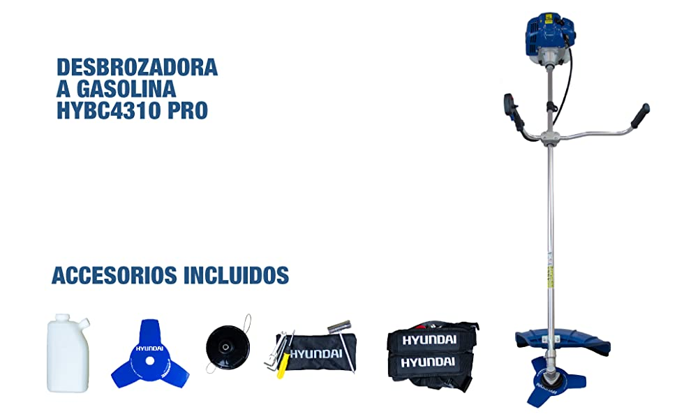 Hyundai, HY-HYBC4310, Desbrozadora, 1.45 W, AZUL, GRANDE: Amazon.es: Bricolaje y herramientas