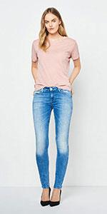 Lee Scarlett, Jeans Mujer: Amazon.es: Ropa y accesorios