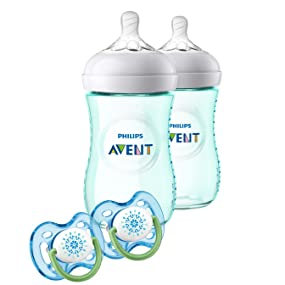 Philips Avent Natural Baby Bottle Teal Gift Set