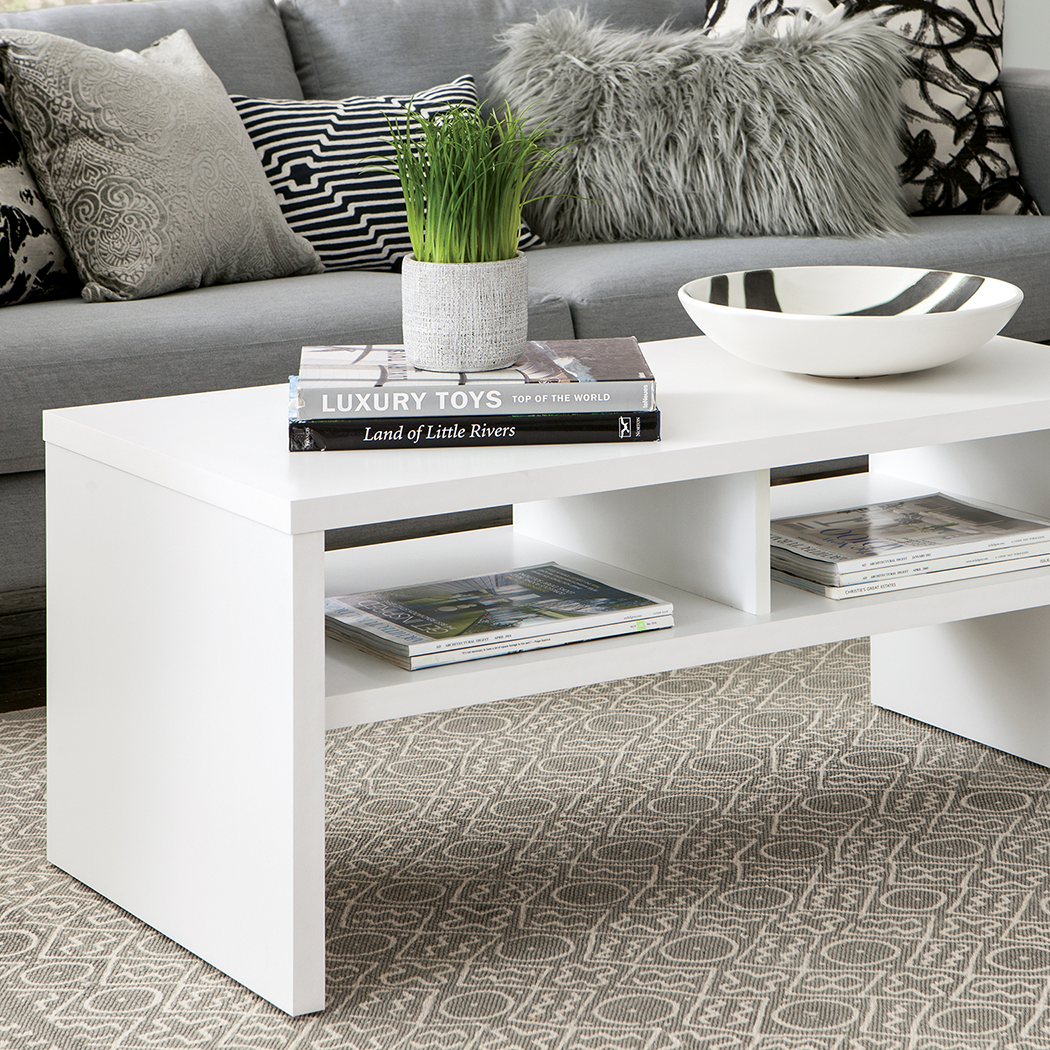 Storage Furniture Coffee Table White Closetmaid: Amazon.com: ClosetMaid 1654 Rectangular Coffee Table With