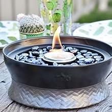Amazon.com : TIKI Brand Clean Burn Ceramic Tabletop Firepiece ...