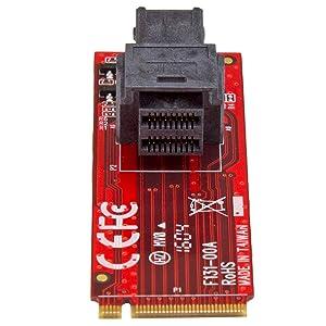 Amazon.com: StarTech.com U.2 to M.2 Adapter - for 1 x U.2 ...