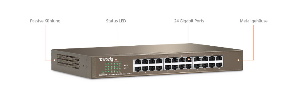 Tenda Teg1024d 10 100 1000 24 Port Switch Computers Accessories