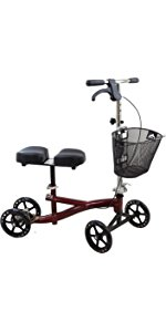 burgundy knee scooter