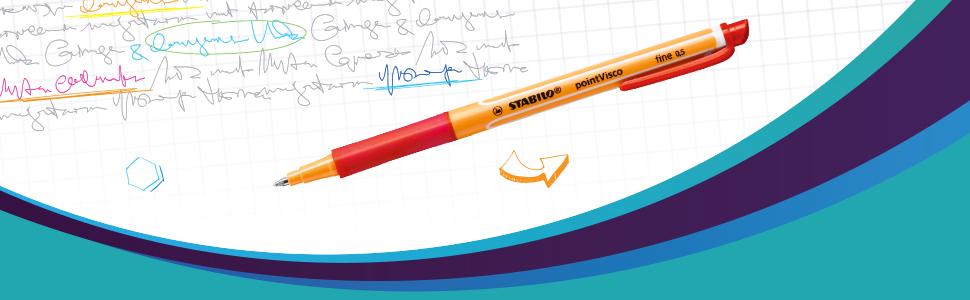 STABILO point Visco 4er Etui Tintenroller 1099//4