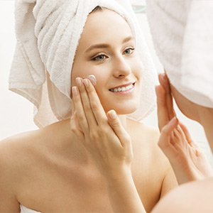 Smooth it on your skin with fingers