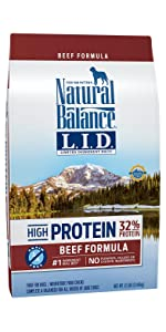 limited ingredient dog food, high protein dog food