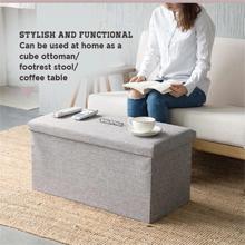 Foldable Fabric Storage Stool/Ottomans - 76x38cm : Stylish & Functional