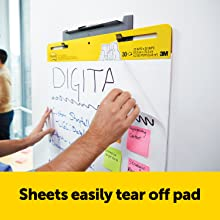 Sheets easily tear off pad