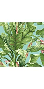sure strip wallpaper, removable wallpaper, banana leaf wallpaper