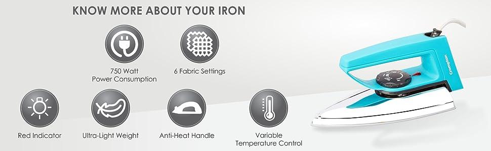 Crompton dry irons
