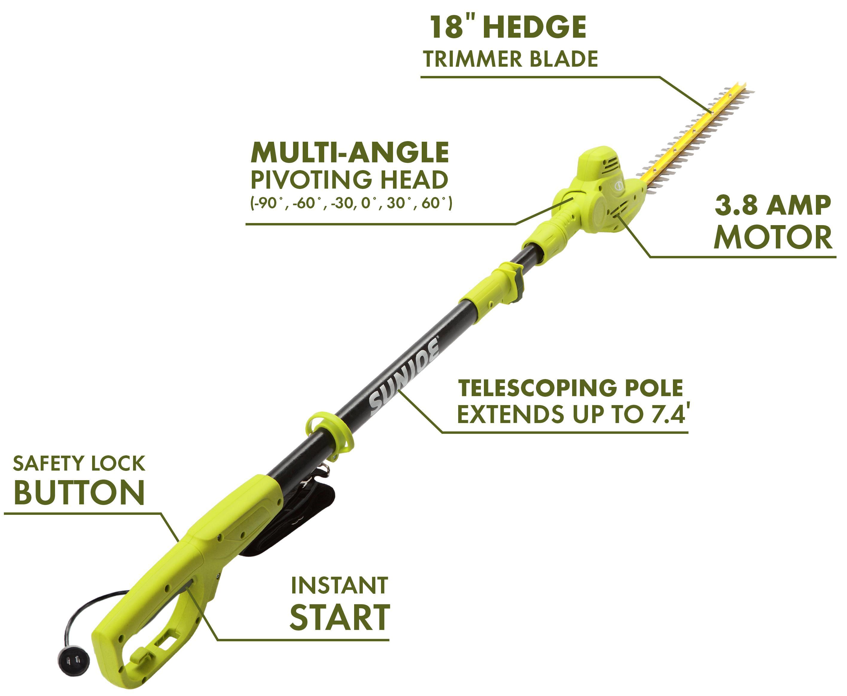 gardenline electric pole hedge trimmer manual
