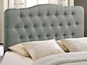 Amazon Com Modway Lily Tufted Linen Fabric Upholstered