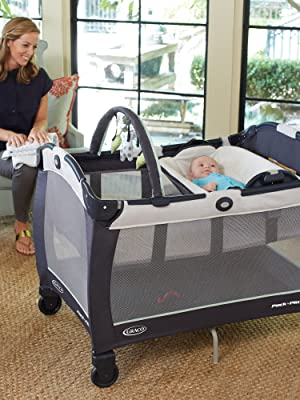 Nyssa w// Reversible Newborn Napper /& Changing Stations New Graco Pack /'n Play