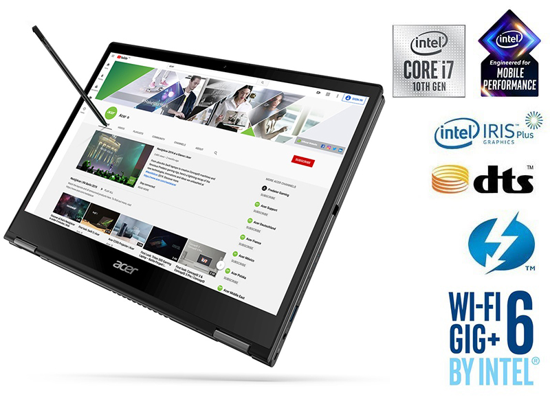 Project Athena Acer Spin 3 SP513-54N Intel 10th Gen Core i7 DTS Amazon Choice MSI Dell Microsoft