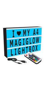 A4 Cinema Lightbox Colour Changing Edition