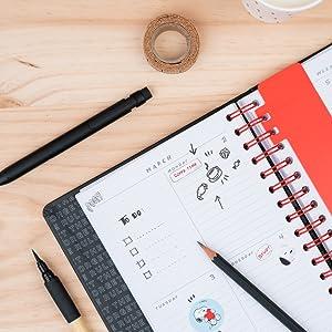 Agenda 2019/2020 semana vista Premium 17 meses Snoopy
