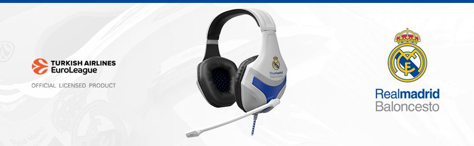 real madrid, cascos, auriculares, auricular, pc, ordenador, gaming, merchandising