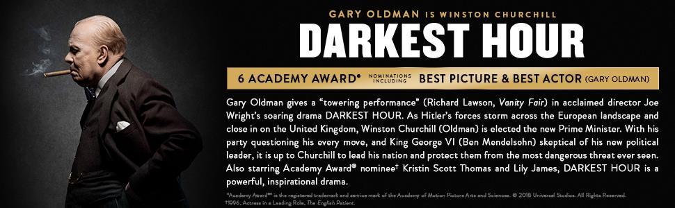 Darkest Hour, Gary Oldman, Churchill, WWII, World War, drama, Lily James, Kristin Scott Thomas