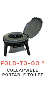 Fold-To-Go Collapsible Portable Toilet