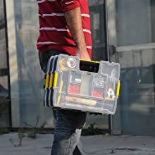 Gereedschapskoffer, opslag, gereedschapskist, doos, gereedschap, professioneel, Stanley, zwart, geel