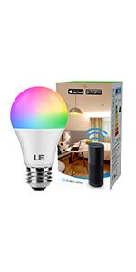 LE LampUX Bombillas Inteligentes GU10, Bombilla WIFi Funciona con ...