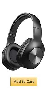 LETSCOM 100 Hours Playtime Bluetooth Headphones