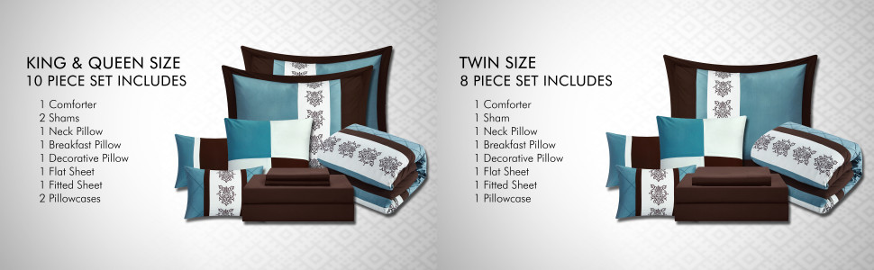 Chic Home King Queen and Twin Sizes