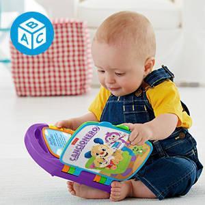 Fisher-Price Libro interactivo de aprendizaje, juguete bebé +6 meses (Mattel FRC69