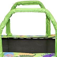 JumpKing Mini Oval Trampoline with Green Pad 38 x 66 38 x 66 YJ Corp JK3866GN USA