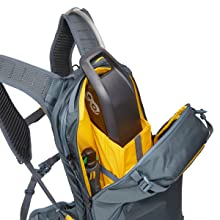 battery storage, divided compartments, hydration pack, day pack, water pack, hydration backpack