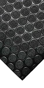 Amazon Com Rubber Cal Coin Grip Flooring And Rolling Mat