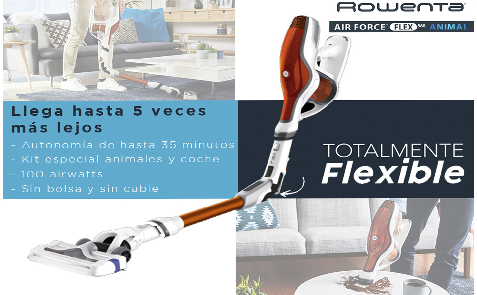 Rowenta Air Force Flex 560 RH9474WO Aspiradora de mano sin cable ...