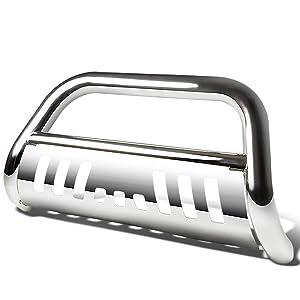 DNA Motoring BURB-027-SS Silver BURB027SS 3 Front Bumper Push Bull Bar