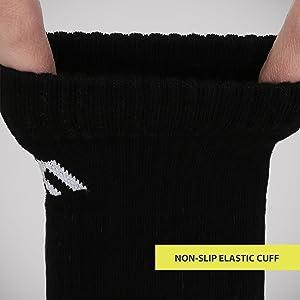 Sports socks elastic cuff