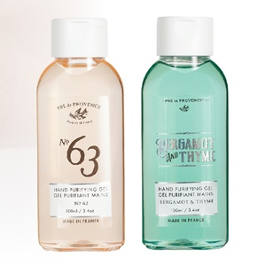 Pre de Provence Hand Purifying Gel Collection in 2 scents for men - Bergamot amp; Thyme, No.63