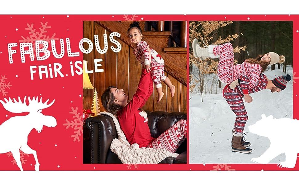 Little Blue House by Hatley Unisex-Adult Fair Isle Bear /& Moose Family Pajamas Pajama Bottom