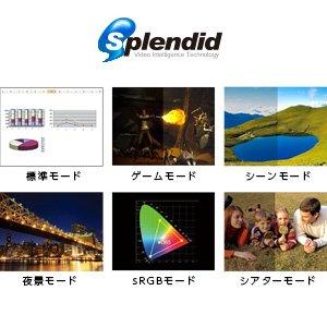 用途に合わせて最適な画質を 選択できるSplendid技術