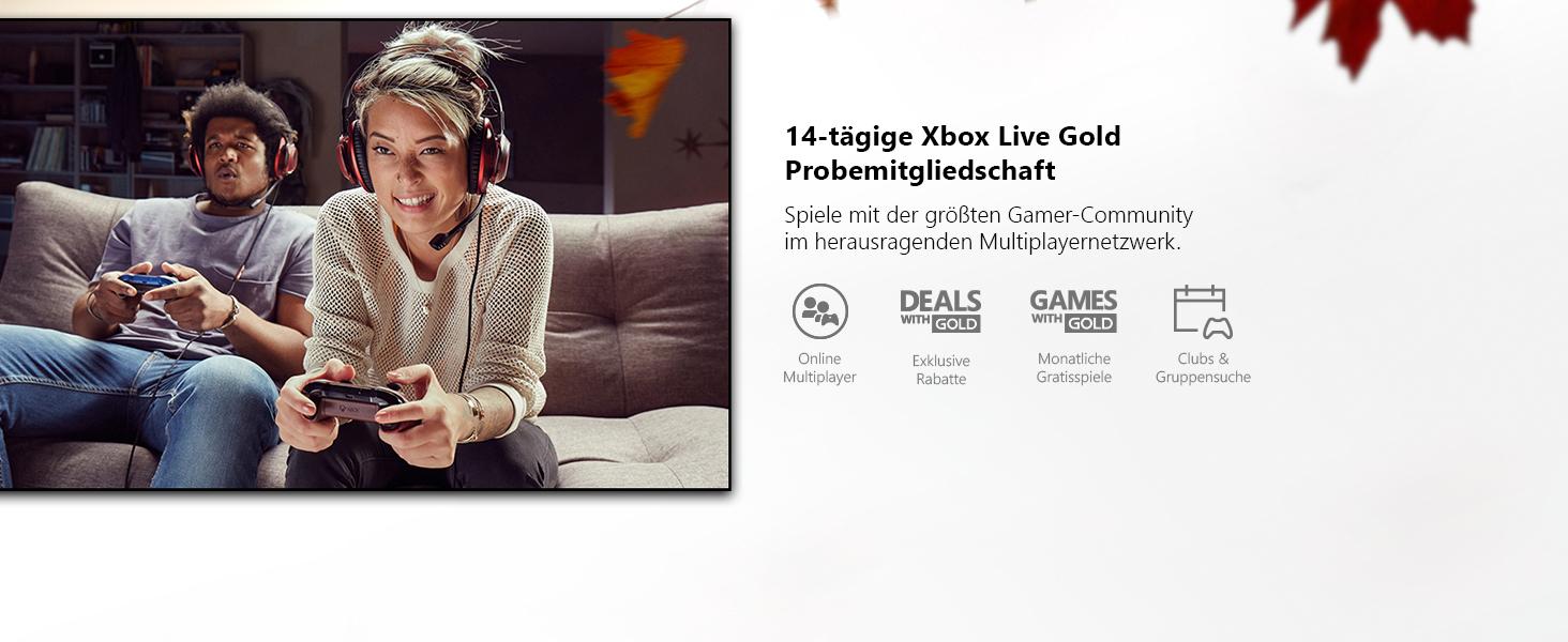 14-tägige Xbox Live Gold Probemitgliedschaft