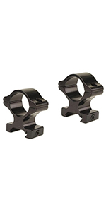 MATTE BLACK LEUPOLD RIFLEMAN RIMFIRE RINGS 3//8 IN
