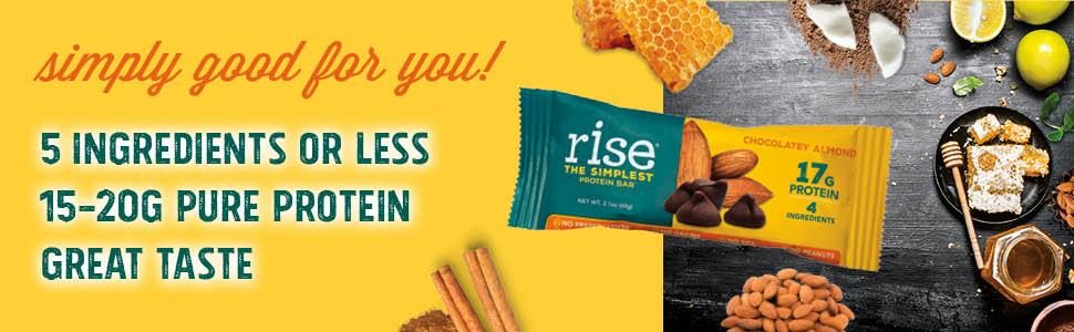 protein; protein bar, rise bar
