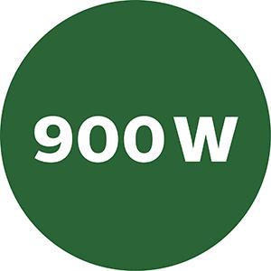 Powerful 900W motor