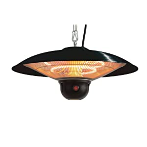 Indoor/Outdoor Ceiling Electric Patio Heater With LED Light And Remote  Control