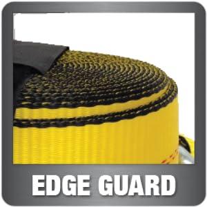Aluminum handle flat hook edge guard webbing protector ratchet tiedwon