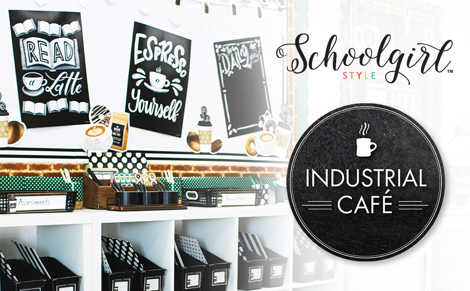 Schoolgirl Style Industrial Cafe Classroom Decor Collection