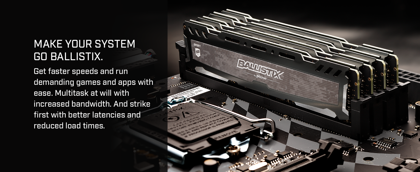 Make your system go Ballistix.