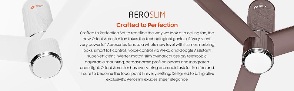 Description of Aeroslim Ceiling smart fan with IOT