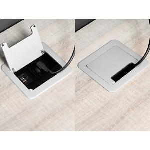 Emuca - Regleta multienchufe retráctil para empotrar en la Mesa ...