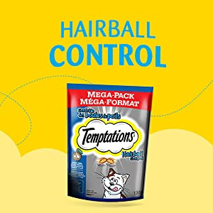 Hairball Control, Help prevent cat hairballs with treats, Crunchy on the outside, Soft on the inside