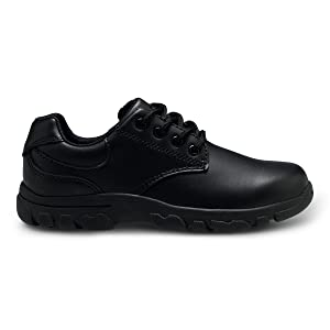 Black Youth Boy/'s Hush Puppies Chad Uniform Oxford Shoes